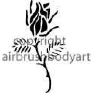 0205 traditional rose large re-usable stencil