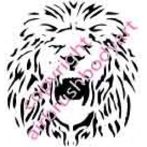 0206 lion re-usable stencil