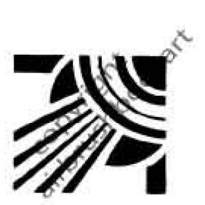 0215 art nouveu re-usable stencil