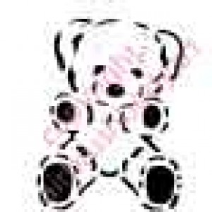 0286 teddy bear reusable stencil