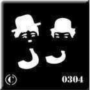 0304 reusable Laurel and Hardy stencil