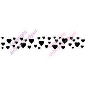 0340 heart armbands