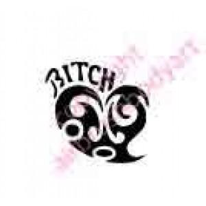 0417 bitch heart tribal