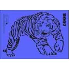 b02 xxl tiger stencil 250mm x 350mm