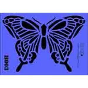 b03 xxl butterfly stencil 250mm x 350mm