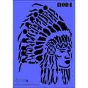 b04 xxl indian stencil 250mm x 350mm