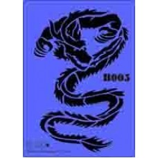 b05 xxl dragon stencil 250mm x 350mm