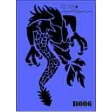 b06 xxl dragon stencil 250mm x 350mm