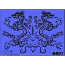 b07 xxl twin dragons stencil 250mm x 350mm