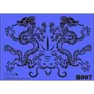 b07 xxl twin dragons stencil 250mm x 350mm