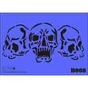b08 xxl skulls stencil 250mm x 350mm
