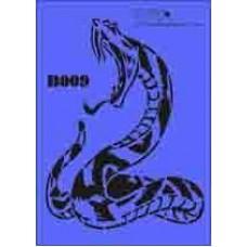 b09 xxl snake stencil 250mm x 350mm