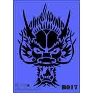 b17 xxl dragon stencil 250mm x 350mm