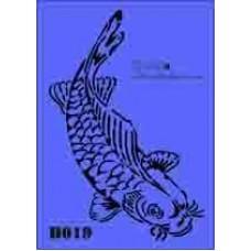 b19 xxl koi carp stencil 250mm x 350mm