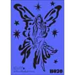 b20 xxl fairy stencil 250mm x 350mm