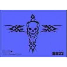 b22 xxl skull stencil 250mm x 350mm