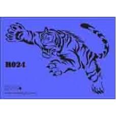 b24 xxl tiger stencil 250mm x 350mm