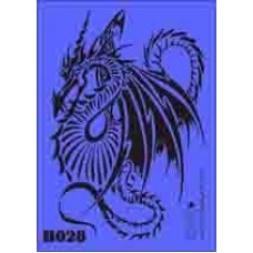 b28 xxl dragon stencil 250mm x 350mm