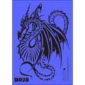 b28 xxl dragon stencil 250mm x 350mm