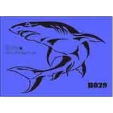 b29 xxl shark stencil 250mm x 350mm