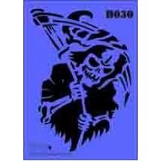 b30 xxl grim reaper stencil 250mm x 350mm