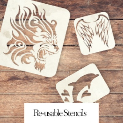 Airbrush Tattoo Reusable Stencils