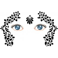 Daisy chain face painting stencils