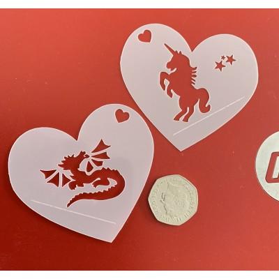 Cute heart stencils