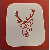 Reindeer reusable stencil