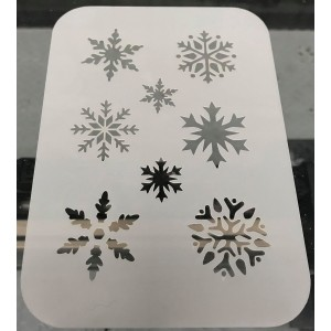 2231 snowflake reusable stencil