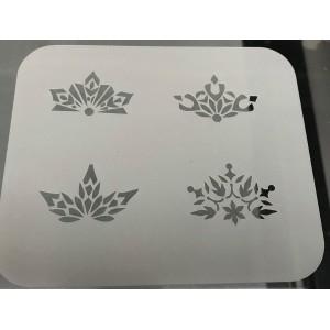 2261 winter crowns reusable stencil