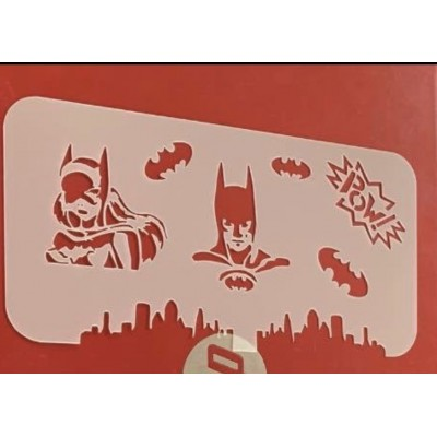 Bat facepainting reusable stencil