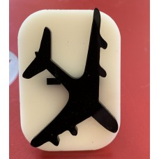 047 Airplane Glitter Stamp