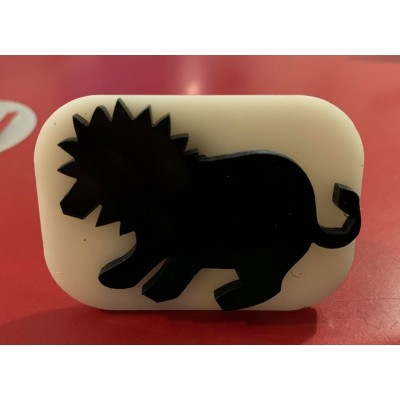 104 lion reusable glitter stamp