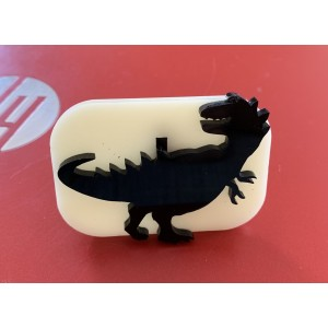 010 Dinosaur 2 Glitter Stamp