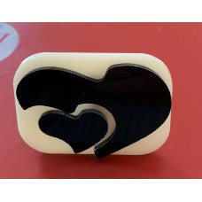 022 Heart Glitter Stamp
