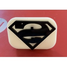 068 Super Man Glitter Stamp
