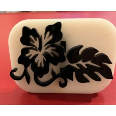 079 hibscus flower reusable glitter stamp