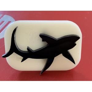 027 Shark Glitter Stamp