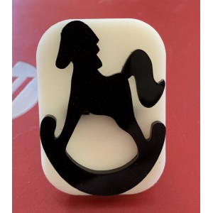 042 Rocking Horse Glitter Stamp