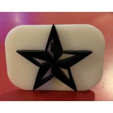 082 star reusable glitter stamp