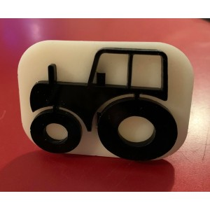 083 tractor reusable glitter stamp