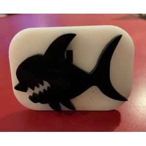 084 shark reusable glitter stamp