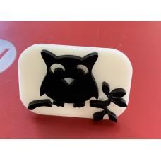 070 Owl Glitter Stamp