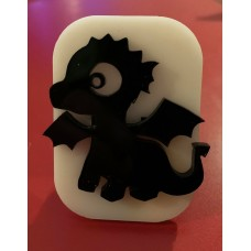088 cute dragon reusable glitter stamp