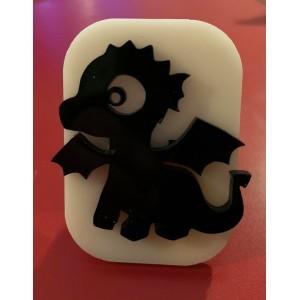 088 cute dragon reusable glitter stamp