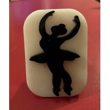 089 ballerina reusable glitter stamp