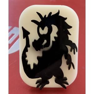 048 Dragon Glitter Stamp