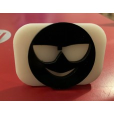 091 emoji / smiley face reusable glitter stamp