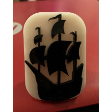 094 pirate ship reusable Glitter Stamp